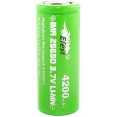 Аккумулятор 26650 Efest IMR 4200 mAh 20А/50A незащищенный  (плоский) LI-MN ВысокоАмперный
