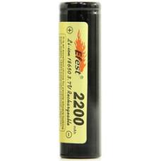 Аккумулятор 18650 Efest 2200 mAh незащищенный  (плоский) Li-ion