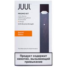 JUUL Kit Графит Набор с картриджами Mango 4-Pack 0.7 мл и зарядным устройством