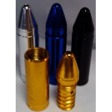 Трубка метал Пуля (разноцветные) L=7,5 см 8219