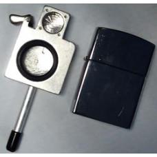 Трубка метал в виде зажигалки L=8 см 04165