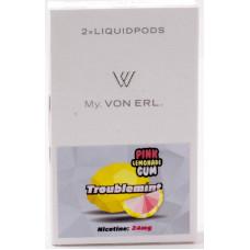 Картриджи Von Erl Frisco Troublemint Pink Lemonade Gum 24 мг/мл (Освежающий розовый лимонад) 2шт