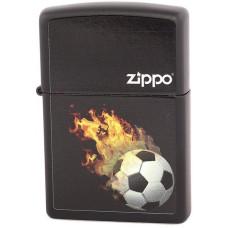 Зажигалка Zippo 28302 Soccer Black Matte Бензиновая