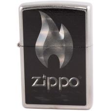 Зажигалка Zippo 28445 Flame Street Chrome Бензиновая