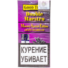 Сигариллы Good Times Double Maestro 5 шт GRAPE Дабл Маэстро Виноград