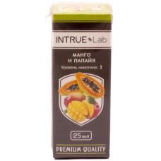Жидкость INTRUE Lab 25 мл Манго и папайя 3 мг/мл VG/PG 50/50