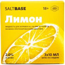 Жидкость Saltbase 3*10 мл Лимон 20 мг/мл