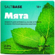 Жидкость Saltbase 3*10 мл Мята 20 мг/мл