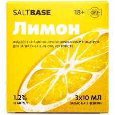 Жидкость Saltbase 3*10 мл Лимон 12 мг/мл
