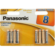 Батарейка Panasonic AAA LR03 Alkaline 8 шт
