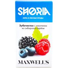 Зубочистки Maxwells SHORIA 3 мг/мл Мята и лесные ягоды с никотином из сибирской березы 30 шт