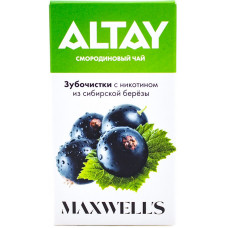 Зубочистки Maxwells ALTAY 3 мг/мл Смородиновый чай с никотином из сибирской березы 30 шт