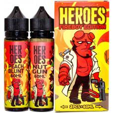 Жидкость Heroes 2*60 мл Fireboy Edition: Peach Blunt Nut Gun 3 мг/мл