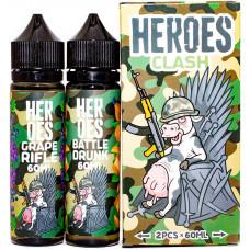 Жидкость Heroes 2*60 мл Clash: Battle Drunk Grape Rifle 3 мг/мл