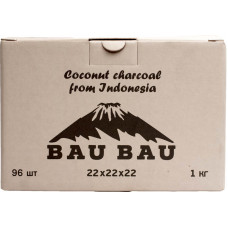 Уголь Bau Bau 96 куб 1 кг 22*22*22 (Индонезия)
