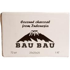 Уголь Bau Bau 72 куб 1 кг 25*25*25 (Индонезия)