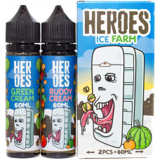 Жидкость Heroes 2*60 мл Ice Farm: Ruddy Cream Green Cream 3 мг/мл
