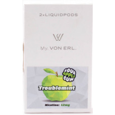 Картриджи Von Erl Frisco Troublemint Sour Apple Gum 12 мг/мл (Жвачка со вкусом сочного яблока) 2шт