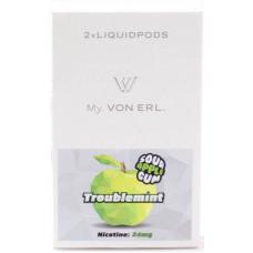 Картриджи Von Erl Frisco Troublemint Sour Apple Gum 24 мг/мл (Жвачка со вкусом сочного яблока) 2шт