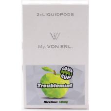 Картриджи Von Erl Frisco Troublemint Sour Apple Gum 18 мг/мл (Жвачка со вкусом сочного яблока) 2шт