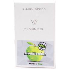 Картриджи Von Erl Frisco Troublemint Sour Apple Gum 06 мг/мл (Жвачка со вкусом сочного яблока) 2шт