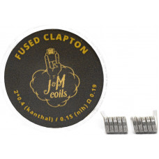 Спирали JM Coils 2 шт Fused Clapton Coils 0.19 Ом (2*0.4 Kanthal/0.15 Nih)