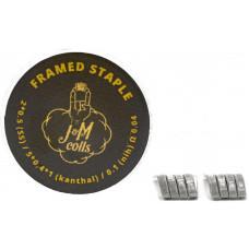 Спирали JM Coils 2 шт Framed Staple Coils 0.04 Ом (2*0.5 SS316/5*0.4*0.1 Kanthal/0.1 Nih)