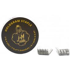 Спирали JM Coils 2 шт Hologram Staple Coils 0.07 Ом (2*0.4 SS316/7*0.4*1 Kanthal/0.1 Nih)