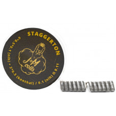 Спирали JM Coils 2 шт Staggerton Coils 0.11 Ом (6*0.5*0.1 Nih+2*0.3 Kanthal/0.1 Nih)