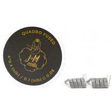 Спирали JM Coils 2 шт Quadro Fused Coils 0.06 Ом (4*0.4 Nih/0.1 Nih)