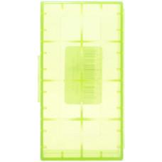 Кейс для хранения 2-х аккумуляторов 18650 зеленый