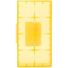 Кейс для хранения 2-х аккумуляторов 18650 оранжевый