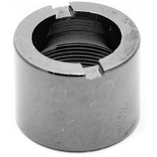 Муфта Декоративная Тип F с воздуховодом (Цилиндр) Черный хромированный