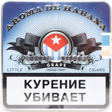 Сигариллы Aroma De Habana Grape портсигар 10 шт