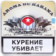 Сигариллы Aroma De Habana Irish Coffee портсигар 10 шт