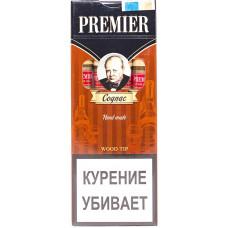Сигариллы Premier  Wood tip Cognac (Коньяк) с мундштуком 4 шт