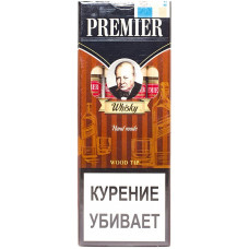 Сигариллы Premier  Wood tip Whisky (Виски) с мундштуком 4 шт