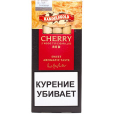 Сигариллы Handelsgold Cherry Wood Tip-Cigarillos Red 5*10*20