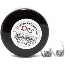 Спирали Prof Coil 2 шт Clapton Twisted Coil K0,4x2+K0,2 0,4/0,2 Ом d=2,5мм