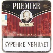 Сигариллы  Premier Porto (Порто) с мундштуком портсигар 10 шт