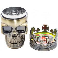 Гриндер King Skull пластик 4 см (Измельчитель)