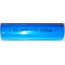Аккумулятор 18650 2600 mAh 3.7V незащищенный (для Lavatube, eVic и в защищенные моды)