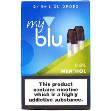 Картридж My Blu Menthol 8 мг/мл 2 шт Von Erl