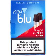 Картридж My Blu Cherry Rush 18 мг/мл 2 шт Von Erl
