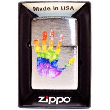 Зажигалка Zippo 200 Rainbow Hand Print Design