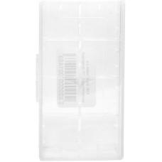 Кейс для хранения 2-х аккумуляторов 18650 прозрачный