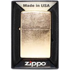 Зажигалка Zippo 207G Reg Gold Dust Бензиновая