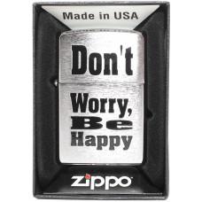 Зажигалка Zippo 200 Dont Worry Be Happy Бензиновая