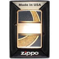 Зажигалка Zippo 28673 Gold and Black Бензиновая