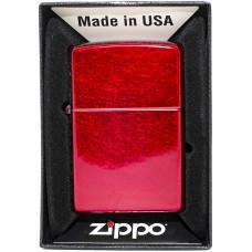 Зажигалка Zippo 21063 Candy Apple Red Mt Бензиновая